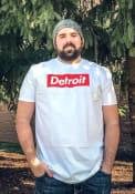Detroit White Box Logo Short Sleeve T Shirt