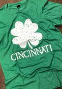 Cincinnati Green Splatter Shamrock Short Sleeve T Shirt