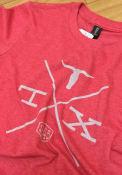 Texas Red Longhorn Crossing Short Sleeve T Shirt