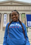 Chicago Blue Wordmark Arch Long Sleeve French Terry Hood Sweatshirt