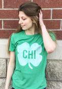 Chicago Green Shamrock Initials Short Sleeve T Shirt