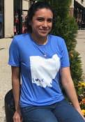 Ohio Royal State Shape Love Short Sleeve T Shirt