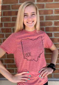 Ohio Red Local State Short Sleeve T Shirt