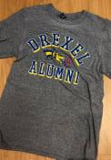 Drexel Dragons Heathered Alumni Fashion T Shirt - Grey