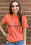 Cleveland Heather Orange Skyline Short Sleeve T Shirt