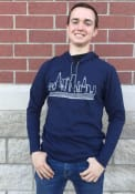 Chicago Navy Skyline Long Sleeve Light Weight Hood