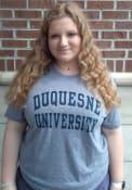 Duquesne Dukes Snow Heather Team Name T Shirt - Navy Blue
