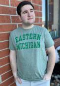 Eastern Michigan Eagles Snow Heather Team Name T Shirt - Green