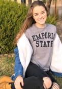 Emporia State Hornets Snow Heather Team Name T Shirt - Grey