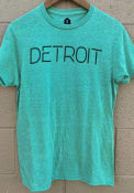 Detroit Heather Green Disconnected Short Sleeve T Shirt