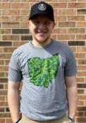 Ohio Heather Graphite Shamrock State Shape Short Sleeve T Shirt