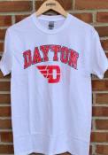 Dayton Flyers Arch Logo T Shirt - White