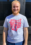 Dayton Flyers State Outline T Shirt - Grey