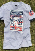 Cleveland Buckeyes Rally Poster Inspired Fashion T Shirt - Grey