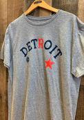 Detroit Stars Rally Arch Graphic Fashion T Shirt - Grey