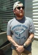 Homestead Grays Rally Forbes Field Fashion T Shirt - Grey