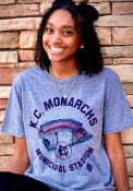 Kansas City Monarchs Rally Municipal Stadium Fashion T Shirt - Grey