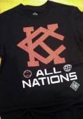 Kansas City Monarchs Rally All Nations Fashion T Shirt - Black