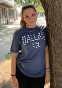 Dallas Heather Navy Plaid Wordmark Short Sleeve T-Shirt