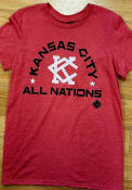 Kansas City Monarchs Rally Arch All Nations Fashion T Shirt - Red