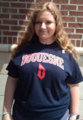 Duquesne Dukes Rally Arch Mascot T Shirt - Navy Blue
