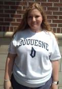 Duquesne Dukes Rally Arch Mascot T Shirt - White