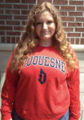 Duquesne Dukes Rally Arch Mascot T Shirt - Red