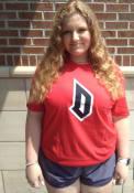 Duquesne Dukes Rally Ringspun Team Logo T Shirt - Red