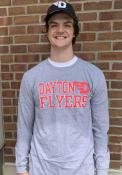 Dayton Flyers Rally Ringspun Slogan T Shirt - Grey