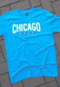 Chicago Rally Wordmark Stars Fashion T Shirt - Blue