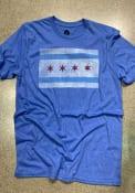Chicago Rally City Flag Fashion T Shirt - Blue
