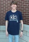 Kansas City Monarchs Rally KC Hat Fashion T Shirt - Navy Blue