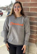 Cleveland Retro Crew Sweatshirt - Charcoal