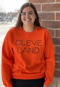 Cleveland Disconnected Crew Sweatshirt - Orange