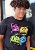Kansas City Monarchs Rally Warhol Color Fashion T Shirt - Black