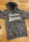 Cleveland Buckeyes Rally Club Script Fashion Hood - Black