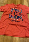 Cleveland Buckeyes Rally World Champs Fashion T Shirt - Red