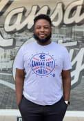 Kansas City Monarchs Rally Star Ball Fashion T Shirt - Grey