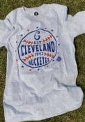Cleveland Buckeyes Rally Star Ball Fashion T Shirt - Grey