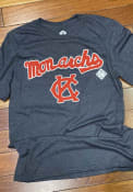 Kansas City Monarchs Rally Script Logo Fashion T Shirt - Navy Blue