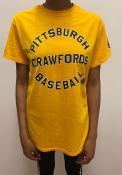 Pittsburgh Crawfords Rally Circle Arch Fashion T Shirt - Gold