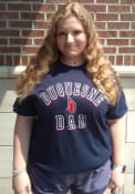 Duquesne Dukes Dad Number One T Shirt - Navy Blue