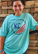KC NWSL Rally Prime Distressed Fashion T Shirt - Teal