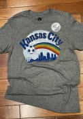KC NWSL Rally Rainbow Fashion T Shirt - Grey