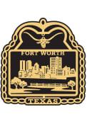Dallas Ft Worth Brass Ornament