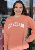 Cleveland Womens Rally Wordmark Crew Sweatshirt - Orange