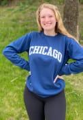 Chicago Womens Rally Wordmark Crew Sweatshirt - Navy Blue