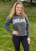 Chicago Womens Rally Arch Wordmark Crew Sweatshirt - Grey