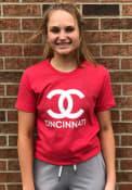 Cincinnati Womens Rally CC Wordmark T-Shirt - Red