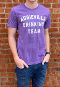 Manhattan Rally Drinking Team Fashion T Shirt - Purple